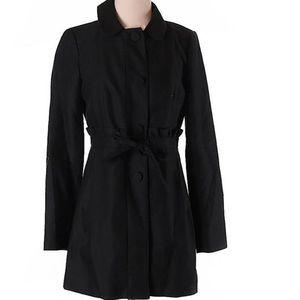 J.Crew belted ruffle jacket black size 4 woman's